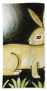 Rabbit And The Butterfly . . . From The Tapestry Series Bath Towel