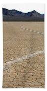 Racetrack Sailing Rocks Death Valley National Park Bath Towel