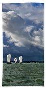 Racing Yachts In The Solent Bath Towel