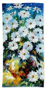 Radiance 2 - Palette Knife Oil Painting On Canvas By Leonid Afremov Bath Towel
