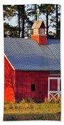 Radiant Red Barn Bath Towel