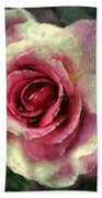 Ragged Satin Rose Bath Towel