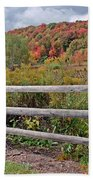 Rail Fence In Autumn Bath Towel