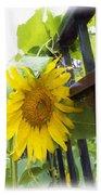 Railed Sunflower Bath Towel