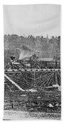 Railroad Bridge, C1860 Bath Towel