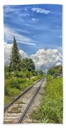 Railroad Track Bath Towel