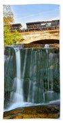 Railroad Waterfall Bath Towel