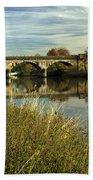 Railway Viaduct At Waterside - Stapenhill Bath Towel