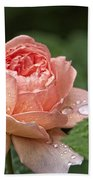 Rain Drenched Rose Bath Towel