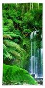 Rain Forest And Waterfall Bath Towel