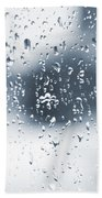Rain In Winter Bath Towel