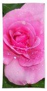 Rain Kissed Rose Bath Towel