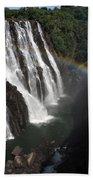 Rainbow At Victoria Falls Hand Towel