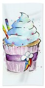 Rainbow-dash-themed Cupcake Bath Towel