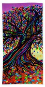 Rainbow Dreams And Falling Leaves Bath Towel