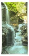Rainbow Falls Bridge Bath Towel