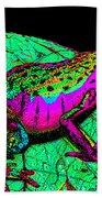 Rainbow Frog 3 Bath Towel