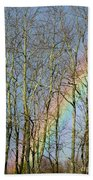 Rainbow Hiding Behind The Trees Bath Towel