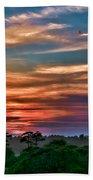 Rainbow Sunset Bath Towel