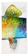 Rainbow Trout Art By Sharon Cummings Hand Towel