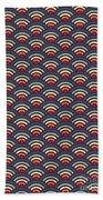 Rainbowaves Pattern Dark Bath Towel by Freshinkstain