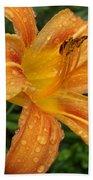 Raindrops On Golden Lily Bath Towel