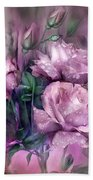 Raindrops On Pink Roses Bath Towel