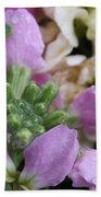Raindrops On Purple And White Flowers Bath Towel