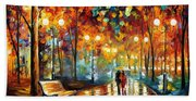 Rain's Rustle 2 - Palette Knife Oil Painting On Canvas By Leonid Afremov Bath Towel