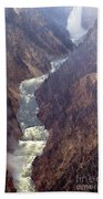 Rainstorm Over Grand Canyon Of The Yellowstone Bath Towel