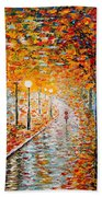 Rainy Autumn Day Palette Knife Original Bath Towel