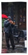 Rainy Day Blues New Orleans Bath Towel