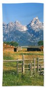 1m9392-ranchland And The Tetons Bath Towel