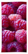 Homegrown Organic Raspberries, Chiloquin Oregon Bath Towel