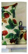 Raspberry Pitcher Bath Towel