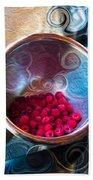 Raspberry Reflections Bath Towel