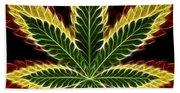 Rasta Marijuana Bath Towel