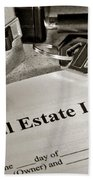 Real Estate Listing And Lock Box Bath Towel