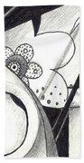Receptors And Rabbit Ears And Long Pairs Of Antennas Bath Towel