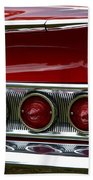 Red 1960 Chevy Tail Light Bath Towel