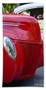 Red 40 Ford Bath Towel