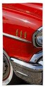 Red '57 Bath Towel
