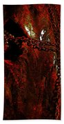 Red Abstract Bath Towel
