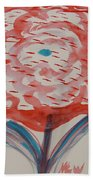 Red And Baby Blue Bath Towel