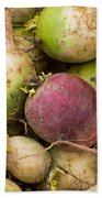 Red And Green Radishes Hand Towel