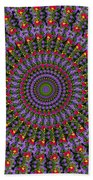 Red And Purple Flowers Bath Towel