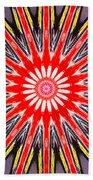 Red Arrow Abstract Bath Towel