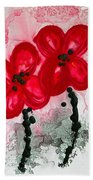 Red Asian Poppies Hand Towel