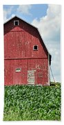 Red Barn And New Corn Bath Towel