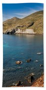 Red Beach Santorini Bath Towel